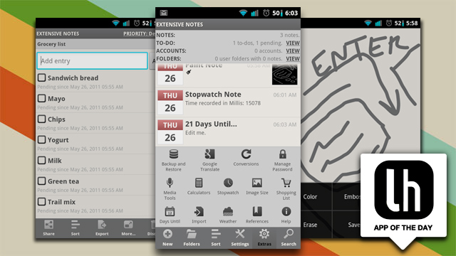 Extensive Notes Is a Ridiculously Full Featured Note-Taking App for Android