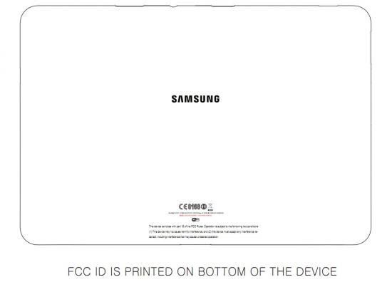 Samsung Galaxy Tab 8.9 at the FCC