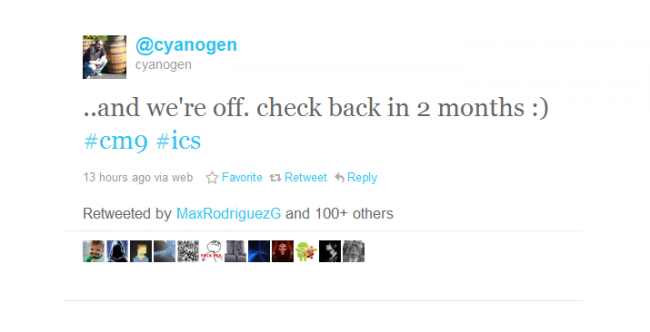 Cyanogen Mod 9 in the Works