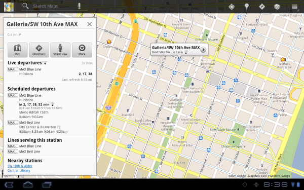 Google Introduces Live Transit Schedules To Mobile And Desktop Maps
