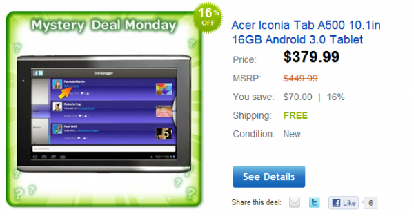 Acer Iconia Tab Going For $380 On Ebay