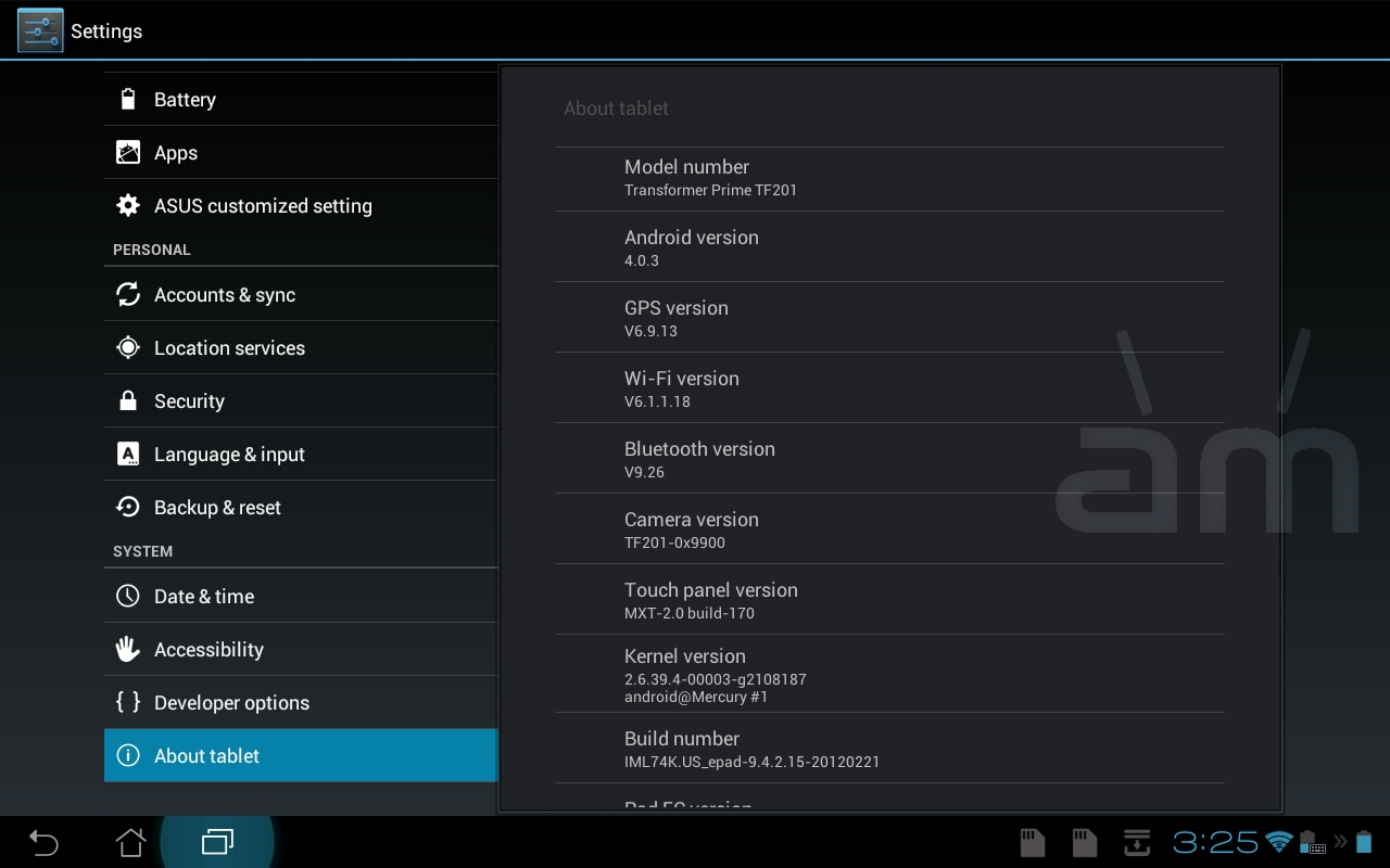 Asus Transformer Prime Receives Yet Another Update – Build Number 9.4.2.15