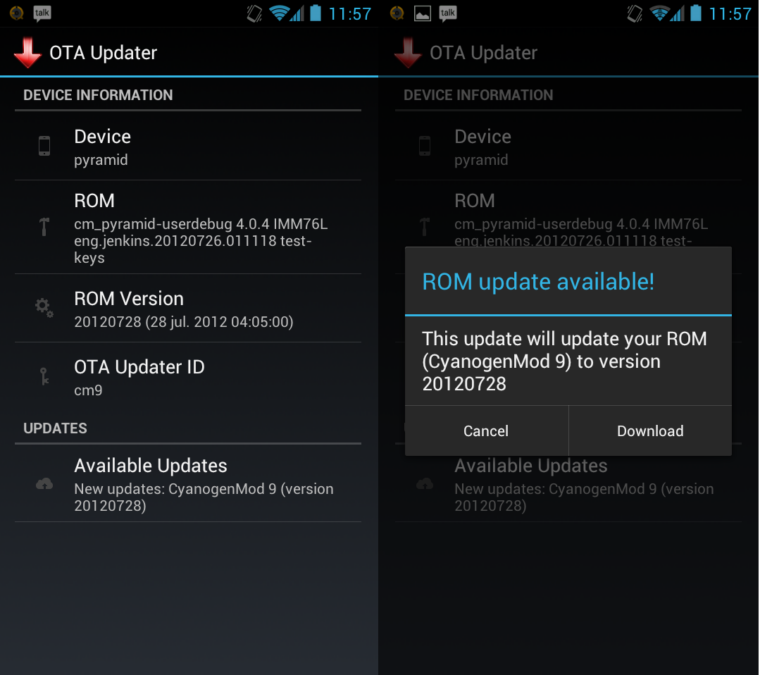 OTA Update Enables Rom Developers To Push OTA Updates.