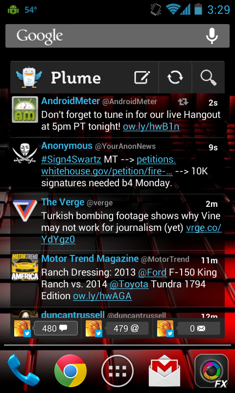 Plume for Twitter Update
