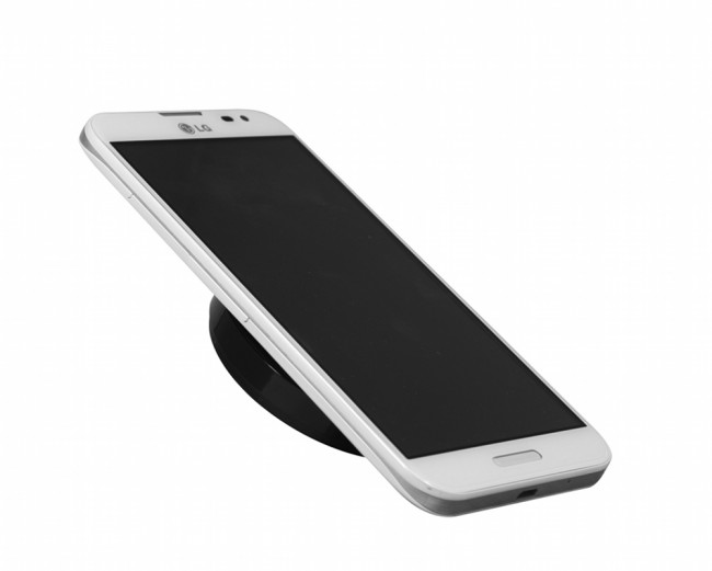 phone on lg wireless charger