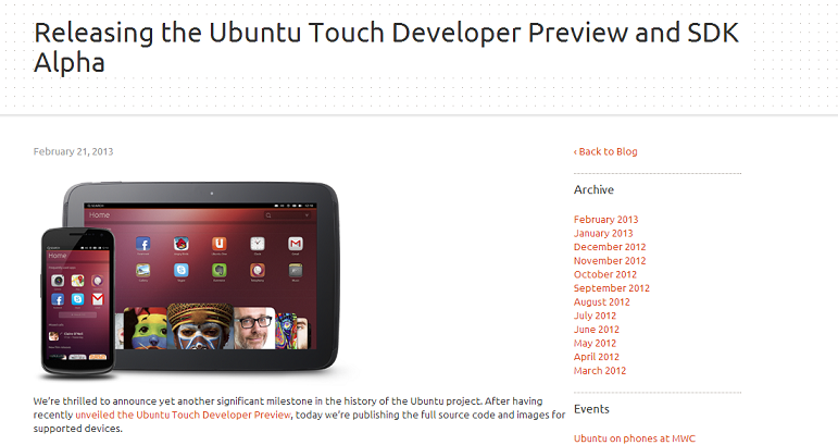 Ubuntu Touch Developer Preview Launches, Millions Everywhere Rejoice!