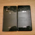 Back of the LG Optimus G