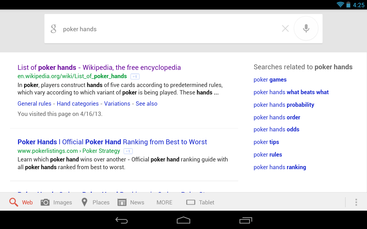 Google Mobile Search Receives Expandable Quick Links And ...