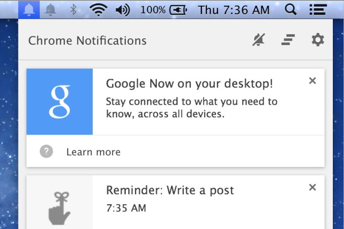 Google Now Notifications Headed to Chrome on Desktop