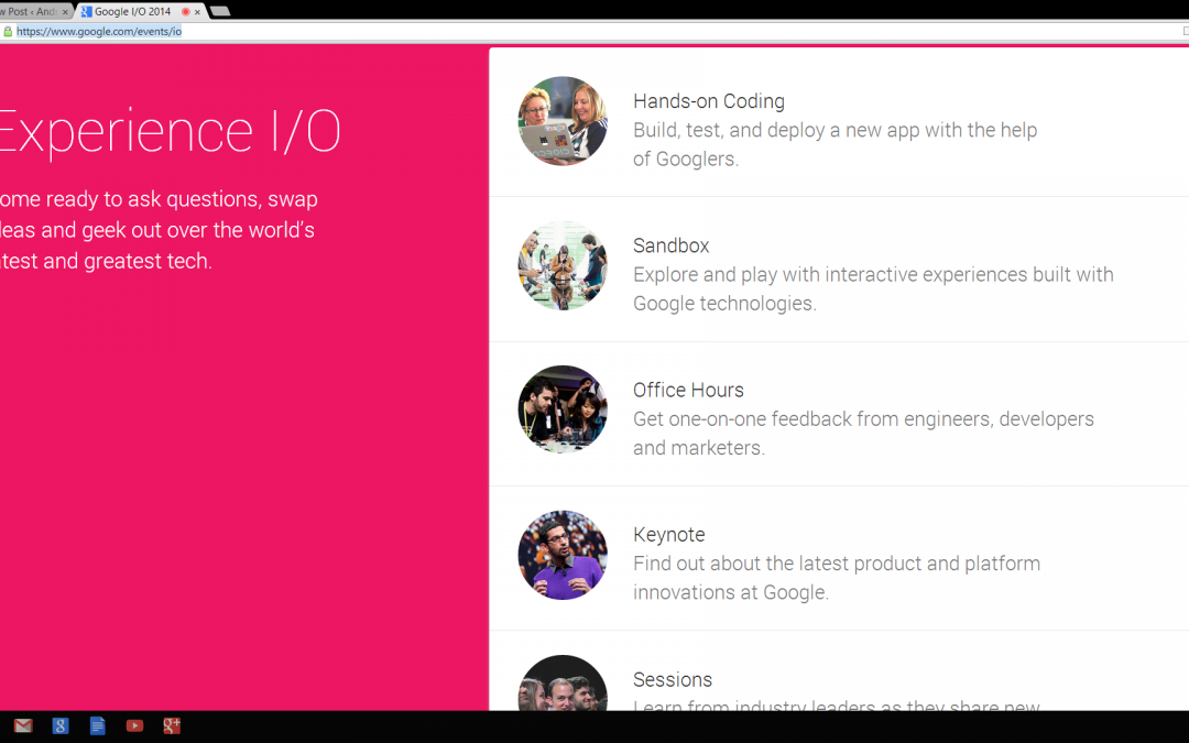 The Google I/O 2014 Website has Launched